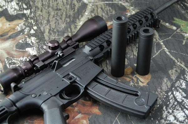 Fake Suppressor Threaded Fits Ar 10 Ar 15 M Amp P15 22