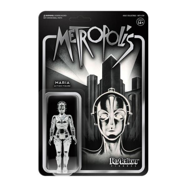 Metropolis Maria Vac Metal Silver ReAction Figure in stunning silver