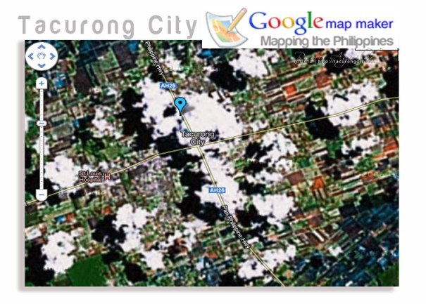 "Old Tacurong City google map. Note the absence of ""places"" or ""points of interests"""