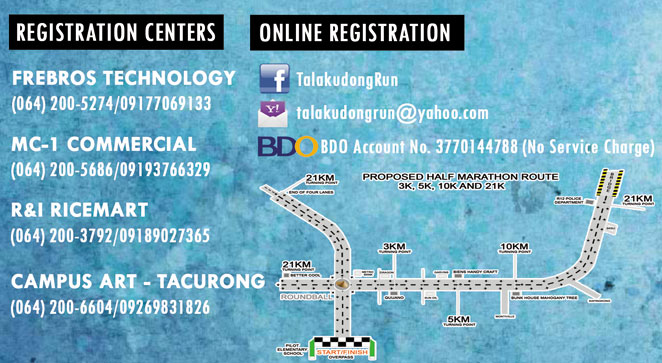 Registration areas and contact numbers