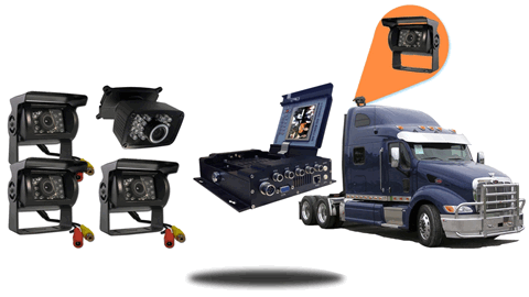 4.3-Inch Mobile DVR kit for Trucks with backup camera