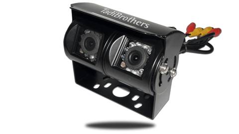 CCD dual lens backup camera with night vision