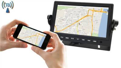7-inch rear-view monitor for ios and android devices with wifi mirroring