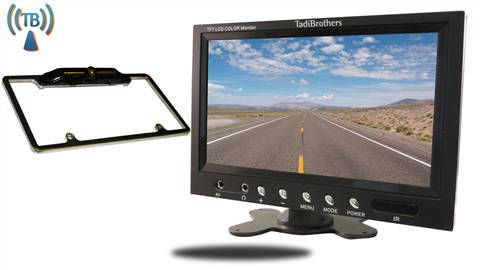 Wireless license plate frame with Backup Camera