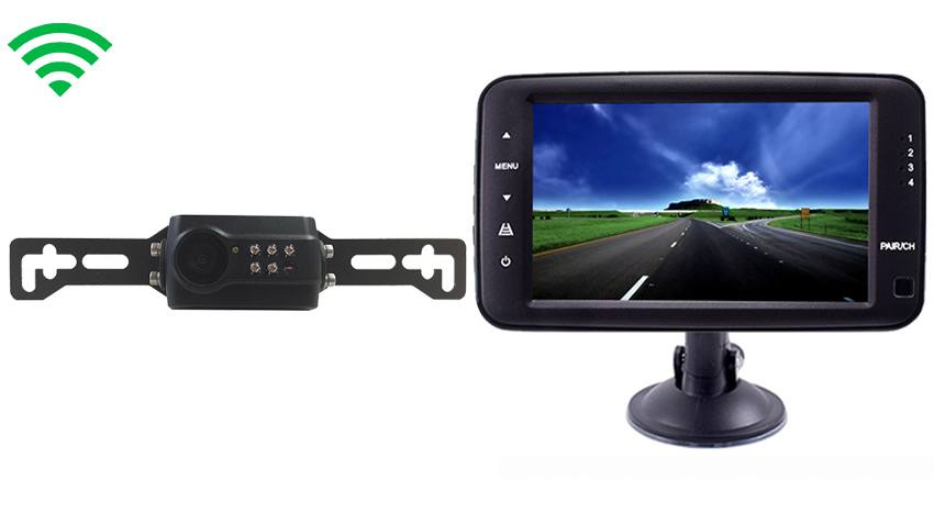 Monitor with Built In Digital Wireless Slip On Backup Camera