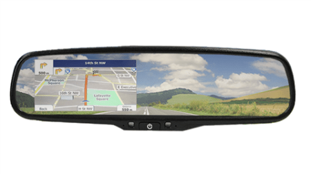 Full Mirror GPS Navigation System with optional Backup Camera
