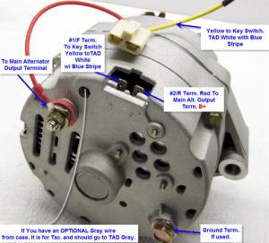 Delco 65 Amp Standard Alternator