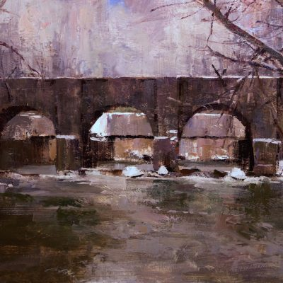 """""""Erie Canal""""  Oil on board. 16x24 inches"""