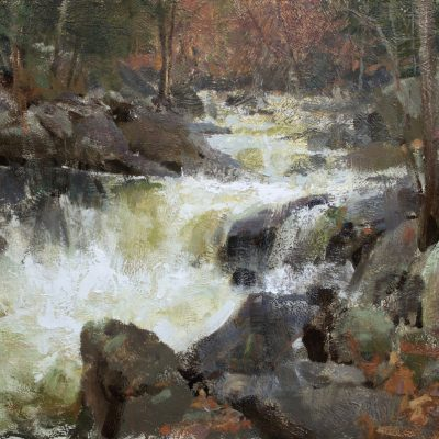 """""""West Branch, New Hampshire"""" Oil on Board. 17x24 inches"""