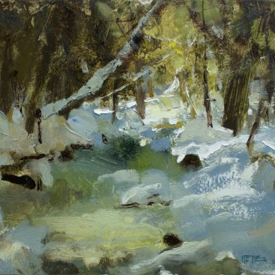 """""""Ranch Brook, VT"""" Oil on board. 10x14 inches"""