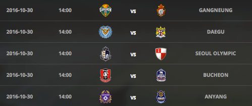Final round of K League Challenge (via K League)