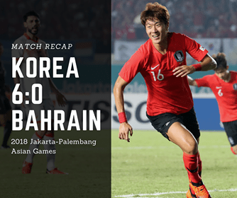 Korea mens squad opens Asian Games with 6:0 win over Bahrain