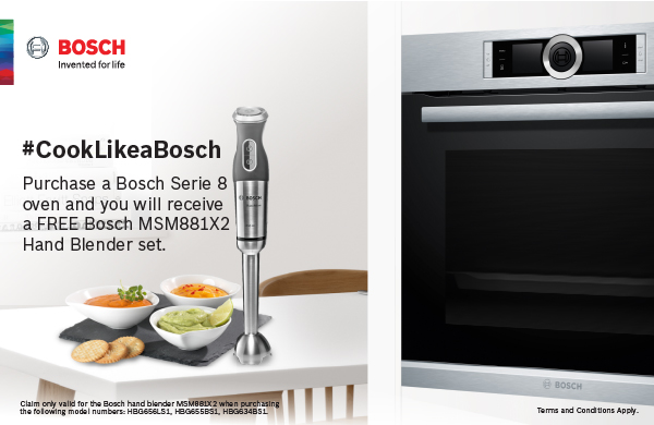 Cook Like a Bosch Promotion available at Tafelberg Furnishers