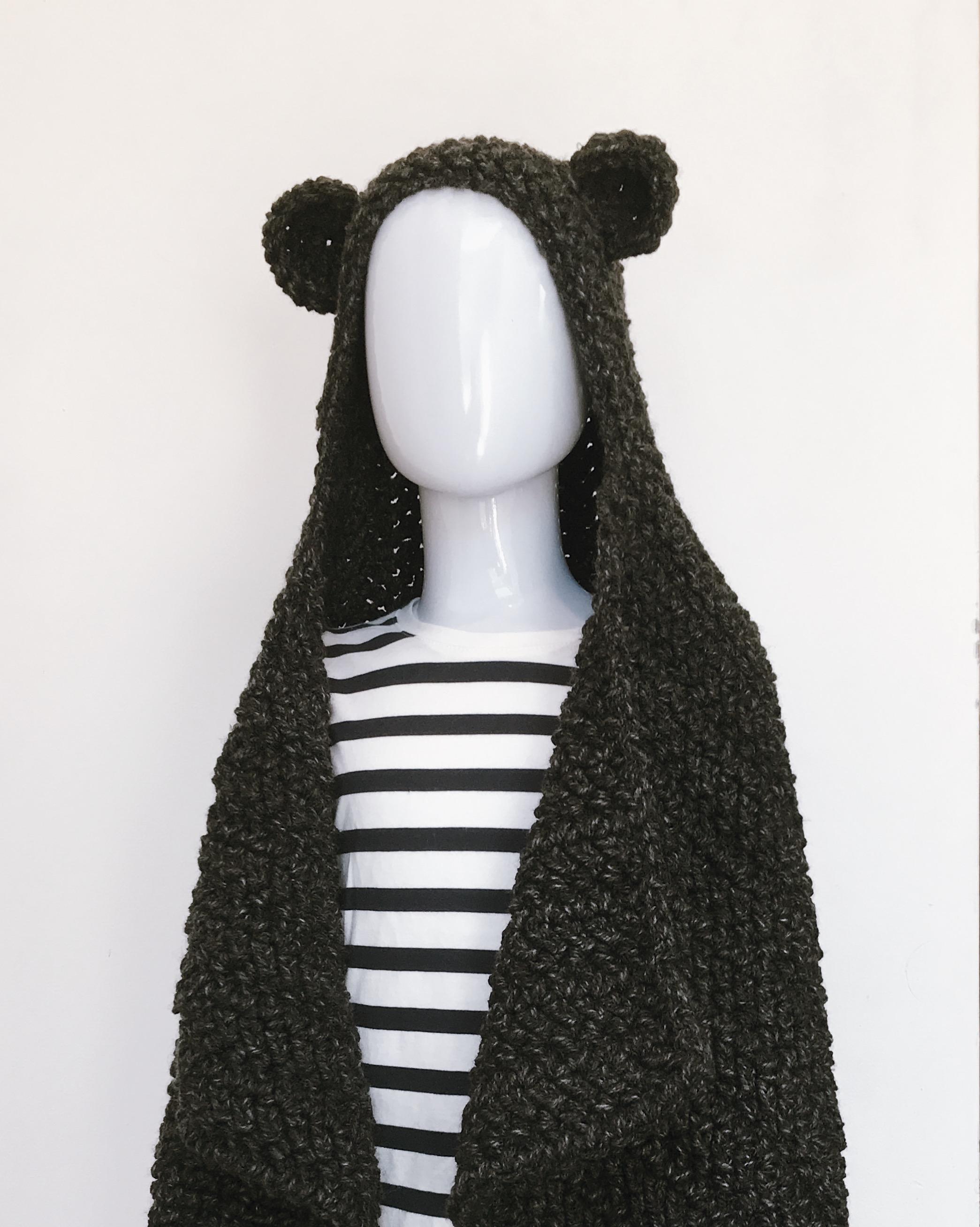 Crochet Bear Blanket Cape