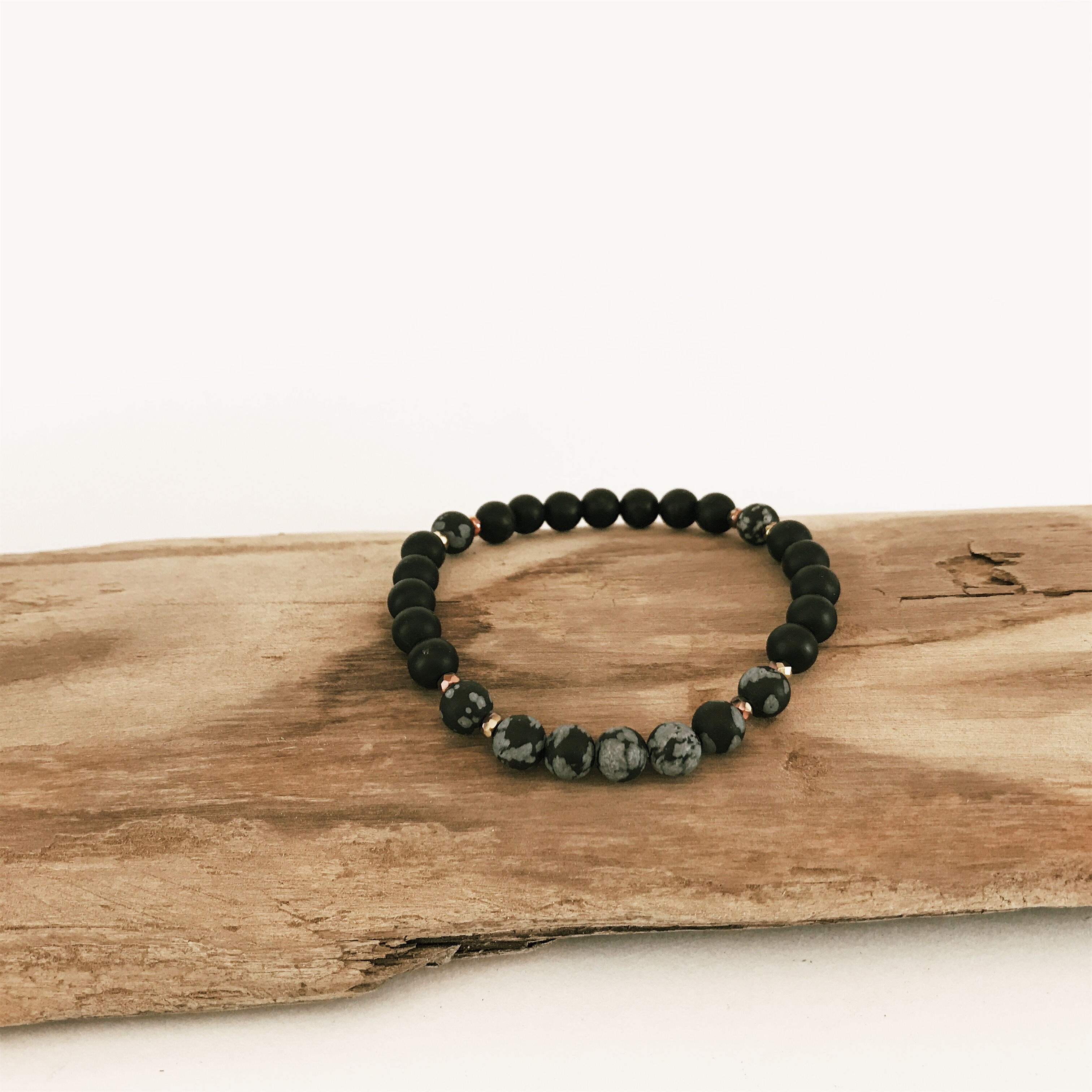 Only with Snowflake Obsidian Bracelet