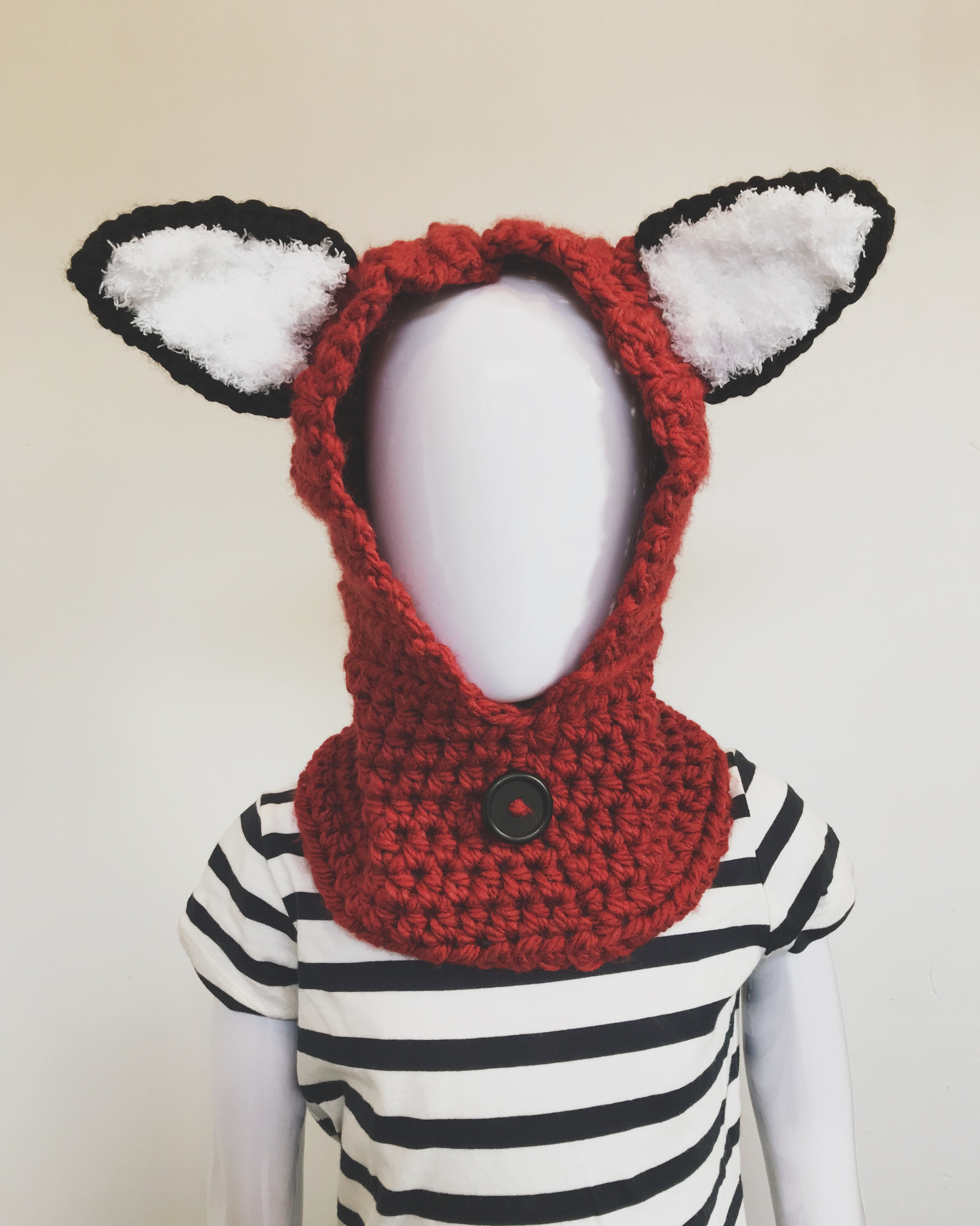 Crochet Fox Cowl for Toddlers