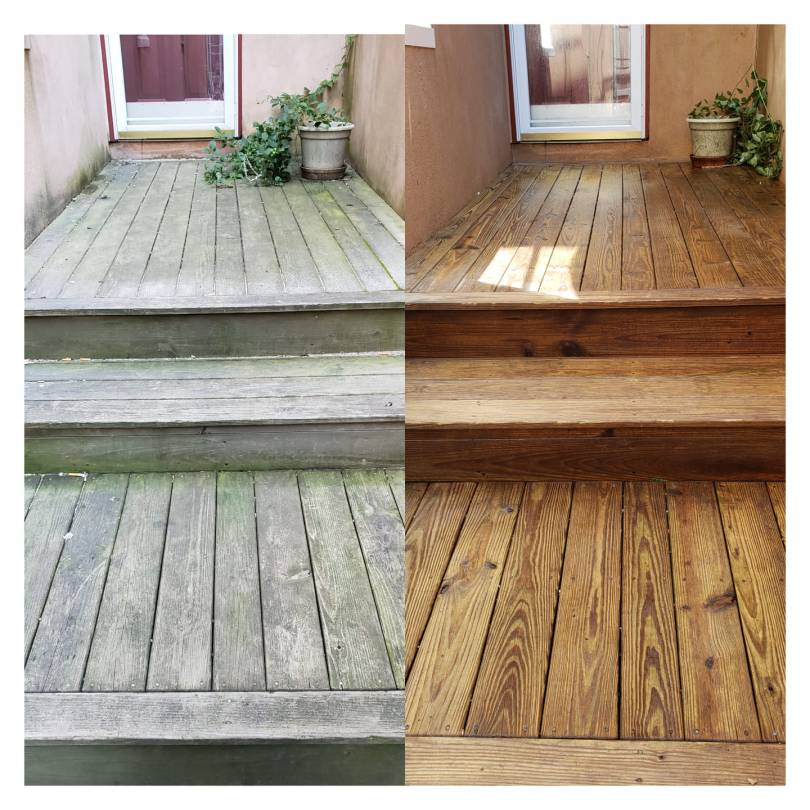Deck power washing in Shelton Connecticut