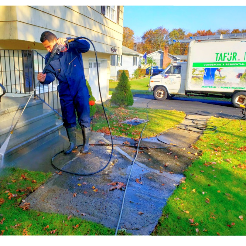 Tafur LLC pressure washing of Darien CT