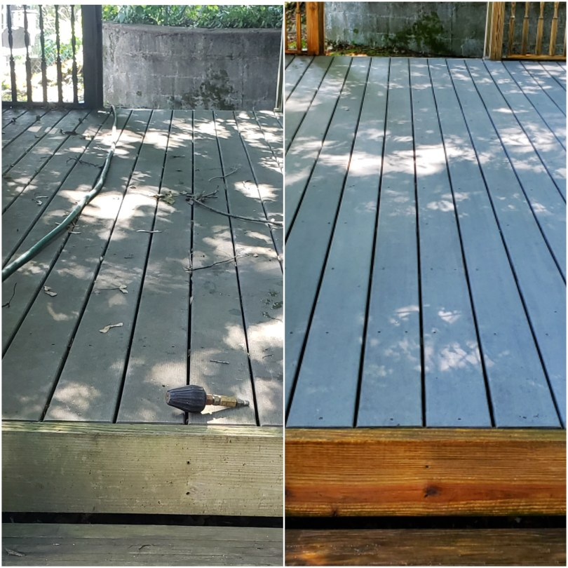 Deck pressure washing in Easton Connecticut