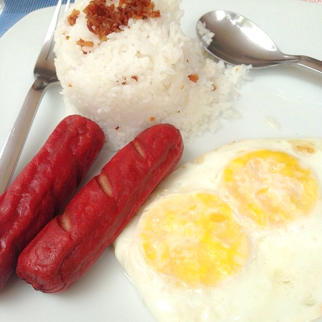 Filipino Hotdogs Eggs Rice