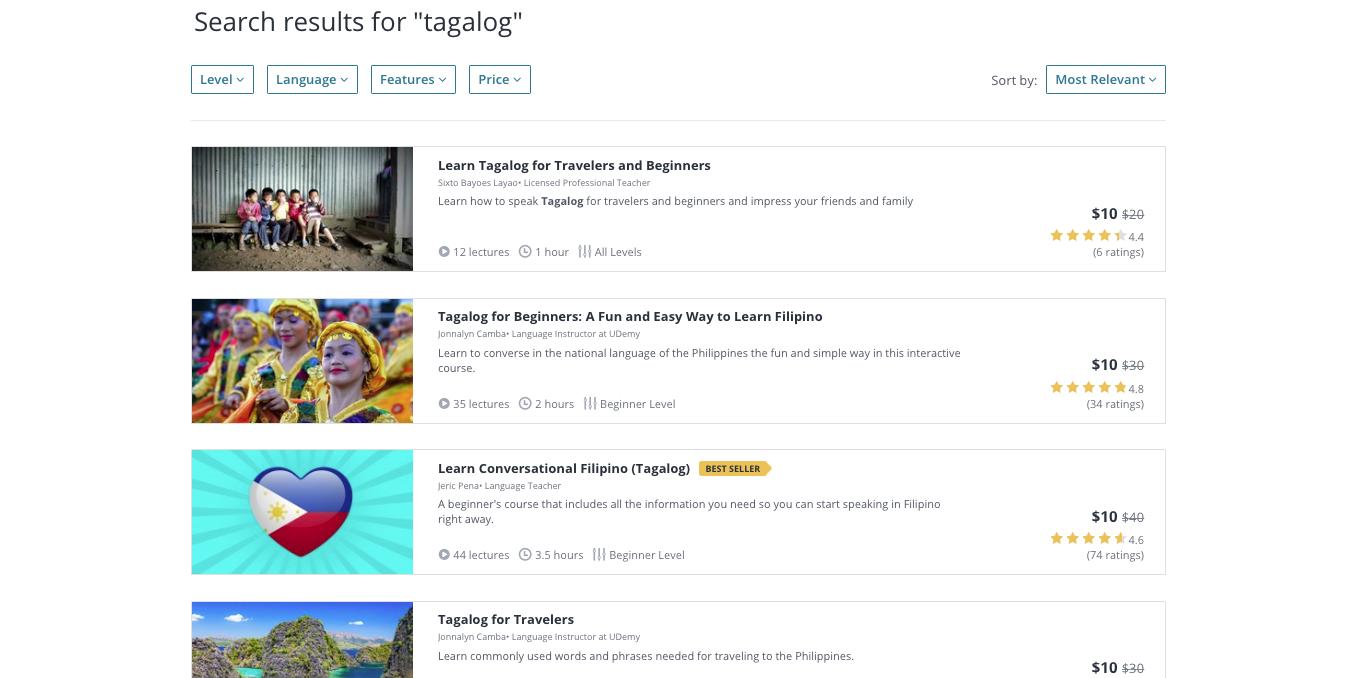 Tagalong Language Courses Cyber Monday Sale