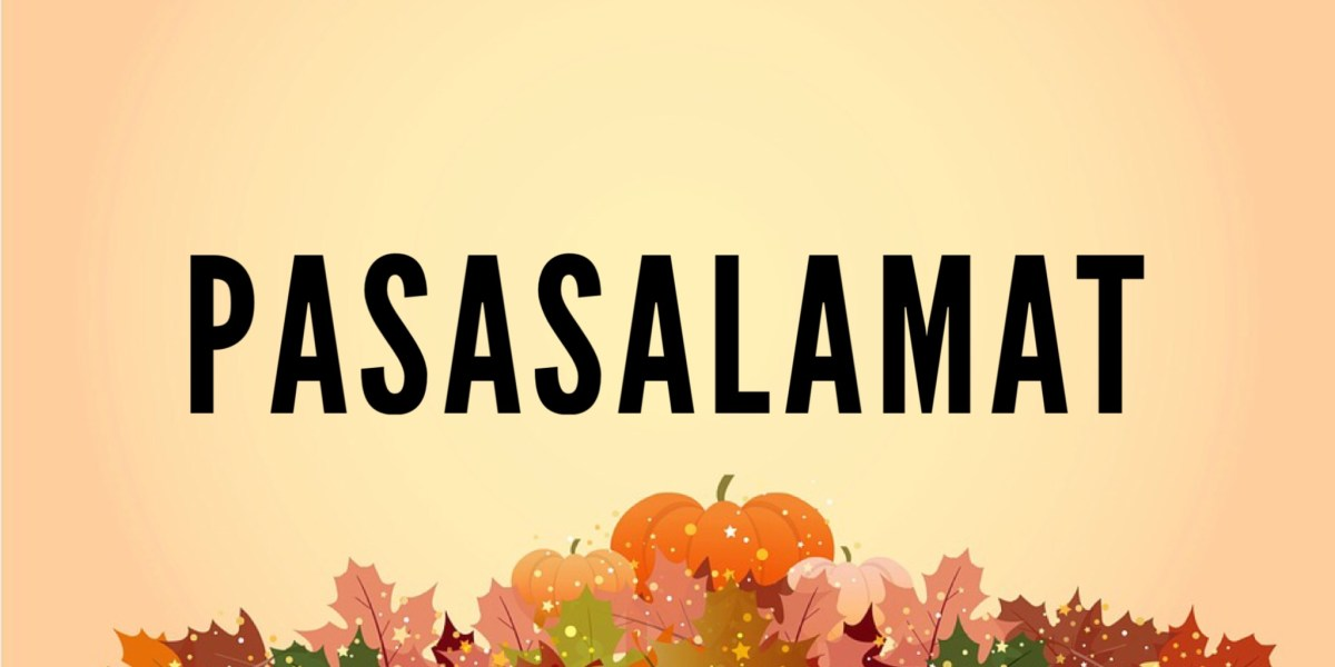 Filipino Phrases & Sentences for Thanksgiving!