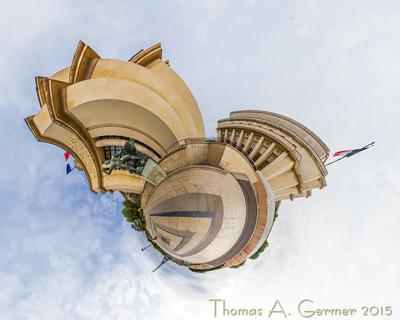 Musée national de la Marine, a spherical panorama presented as a stereographic projection