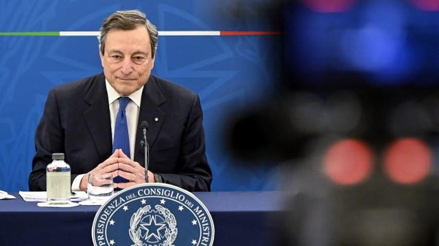 Der italienische Ministerpräsident Draghi.| Bildquelle: AP