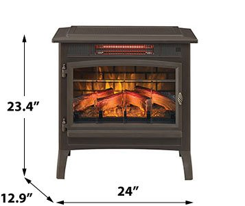 Duraflame 3D Infrared Electric Fireplace Stove with Remote Control ...