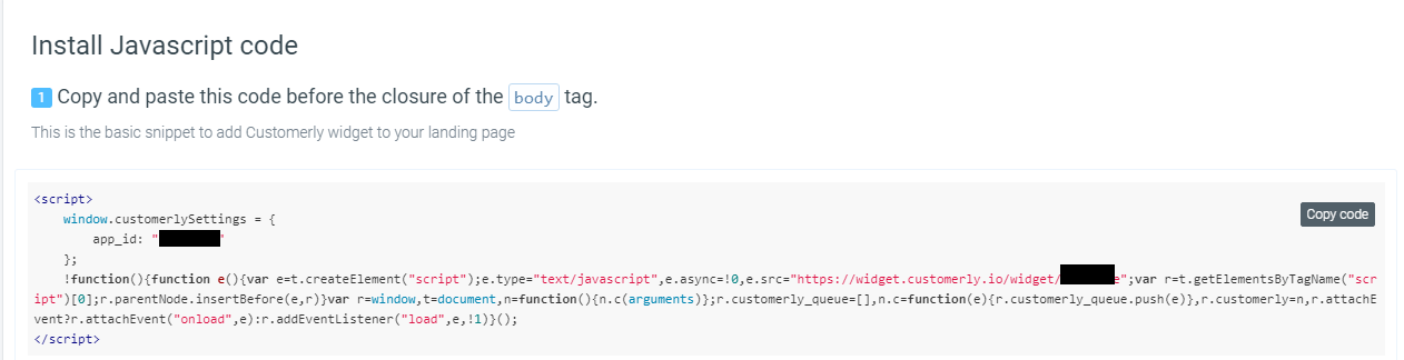 Code Snippet installation Customerly Google Tag Manager