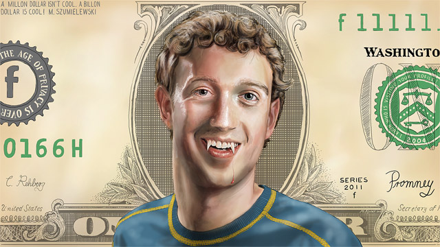 Mark Zuckerberg als Vampir (speedpainting)
