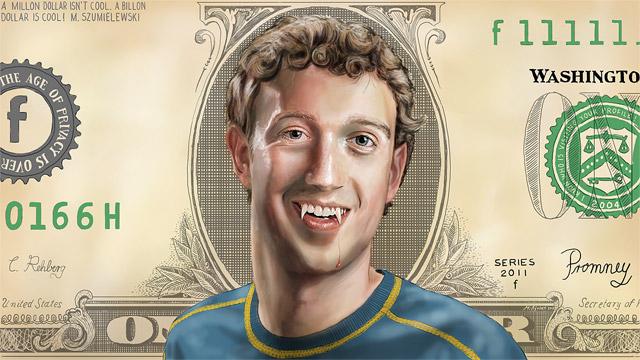 Mark Zuckerberg als Vampir (speedpainting)