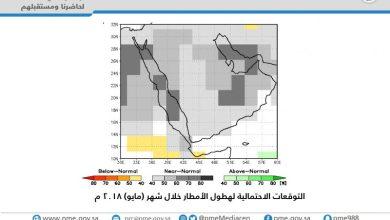 Photo of هيئة الأرصاد تصدر التوقعات الجوية لشهر رمضان 1439هـ