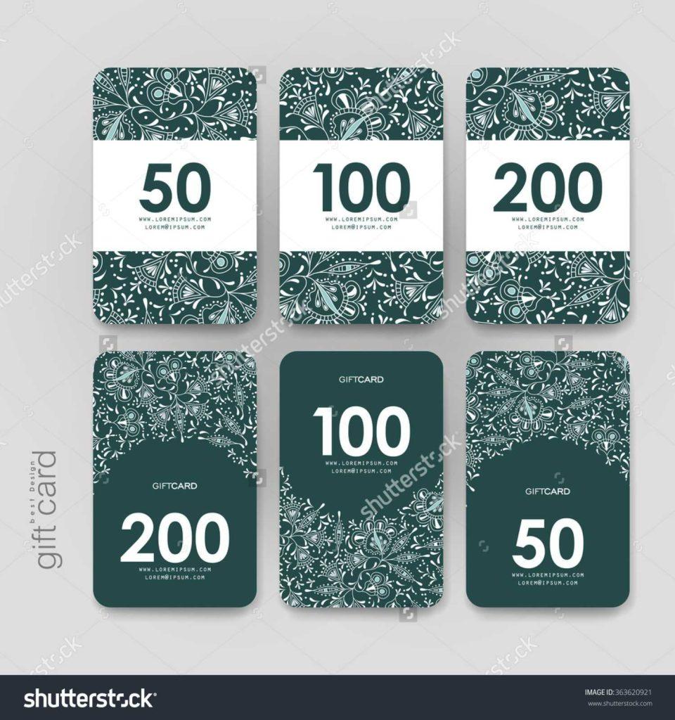 100 Dollar Bill Drop Card Template and Card Discount Card Template