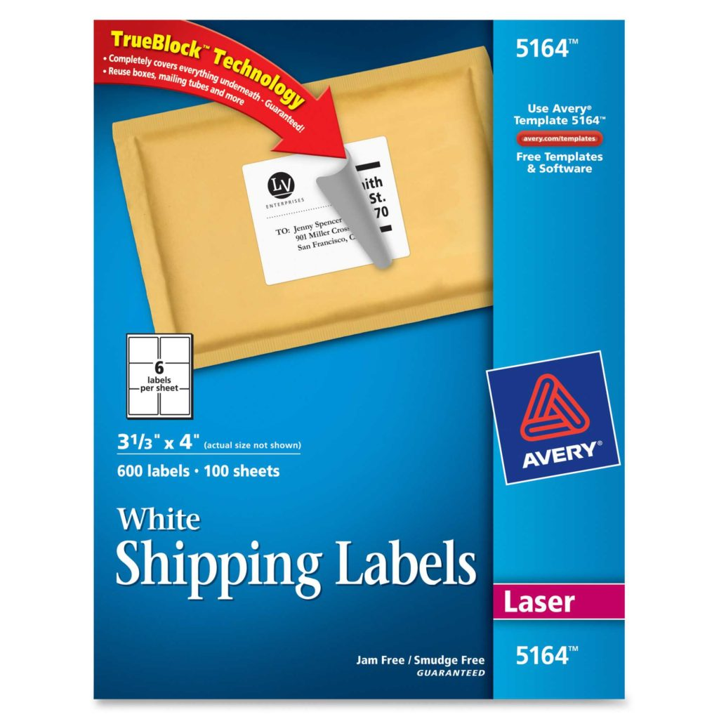 33 Labels Per Sheet Template and Avery 5164 Easy Peel White Shipping Labels Permanent Adhesive