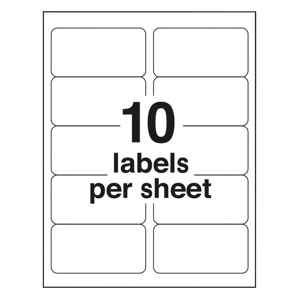 4 Per Sheet Label Template and 2 X 4 Label Template Best Business Template