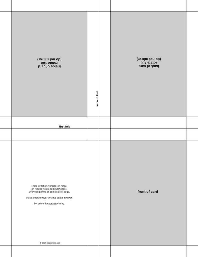 4 Per Sheet Label Template and Postcard Template Media Templates