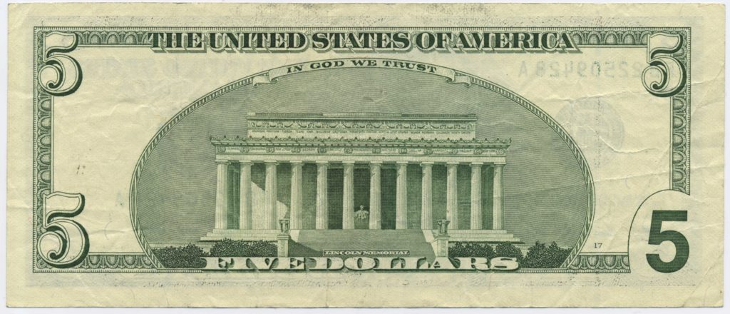 5 Dollar Bill Template and File Us 5 Series 2003 Reverse Wikimedia Mons