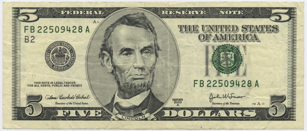5 Dollar Bill Template and File Us 5 Series 2003a Obverse Wikimedia Mons