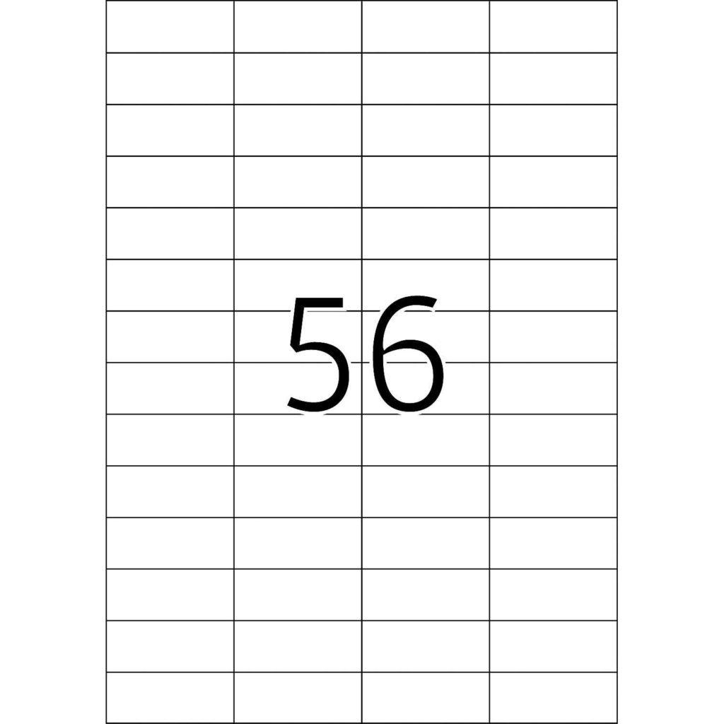 52 Labels Per Sheet Template and Labels Premium A4 52 5×21 2 Mm White Paper Matt Pcs