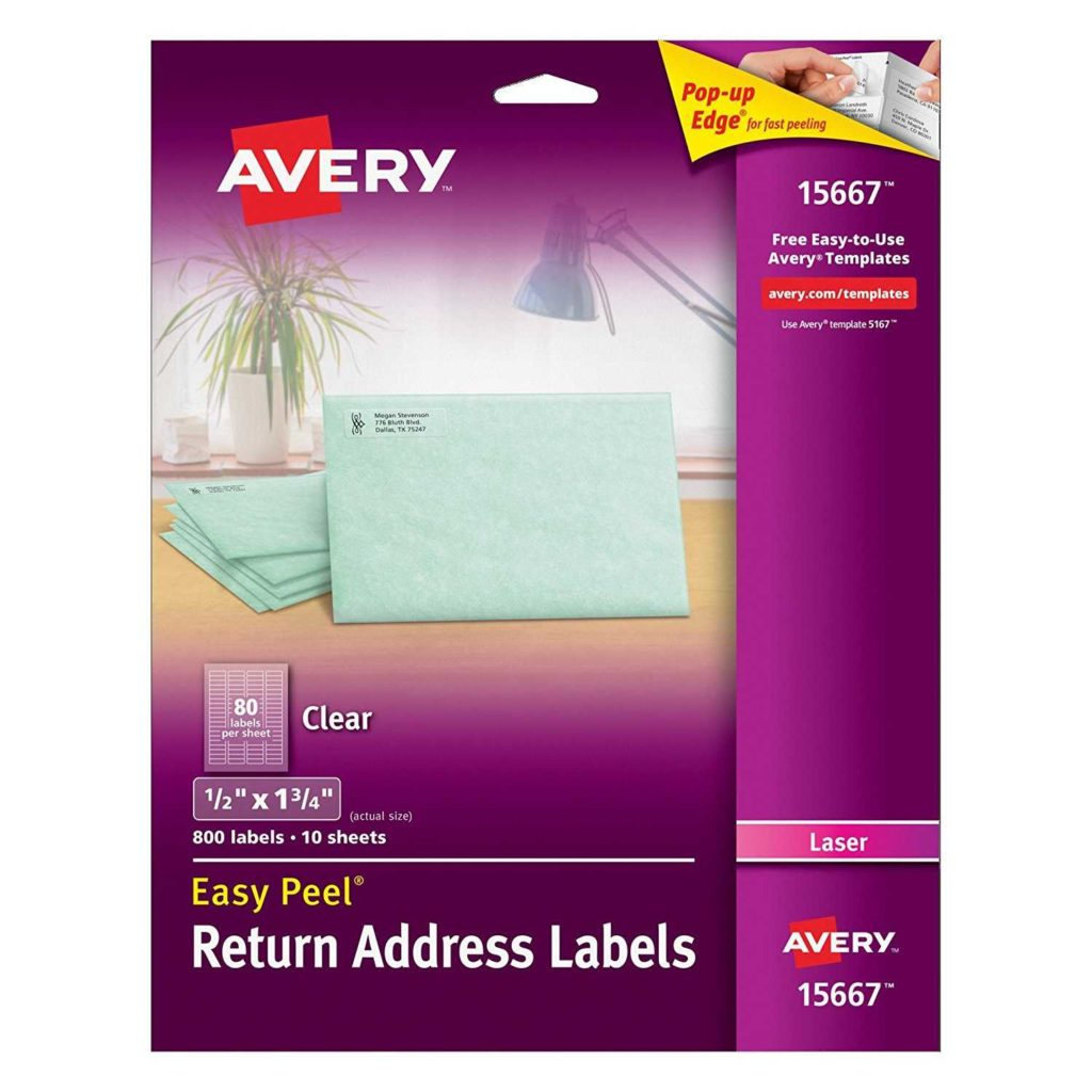 6 Labels Per Sheet Template and Avery Clear Easy Peel Return Address Labels for Laser