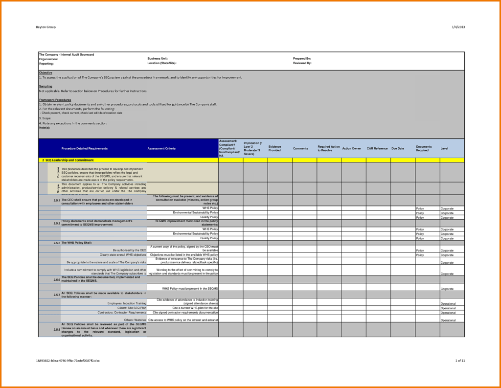 Annual Sales Report Template and Audit Report Template Word Masir