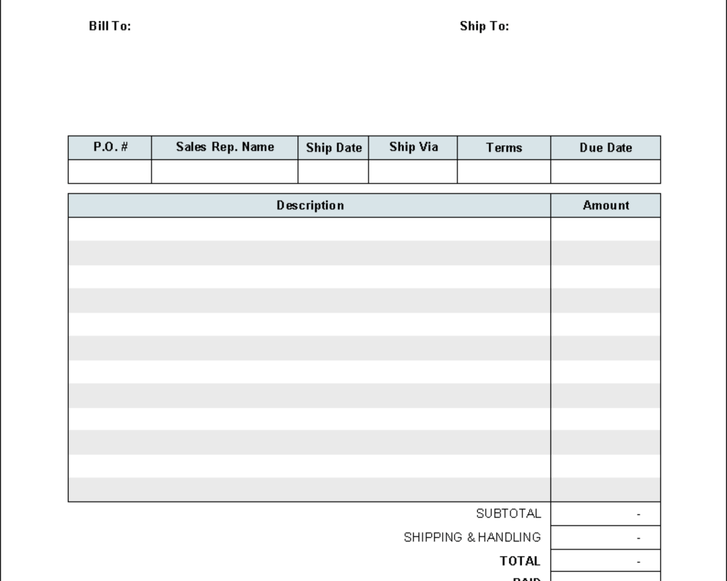 Auto Estimate Template and Invoice Template Media Templates