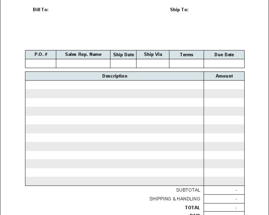 Auto Estimate Template and Invoice Template Media Templates