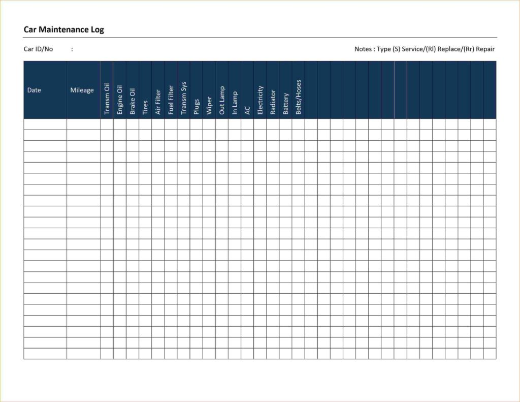 Auto Maintenance Spreadsheet and Auto Maintenance Schedule Spreadsheet