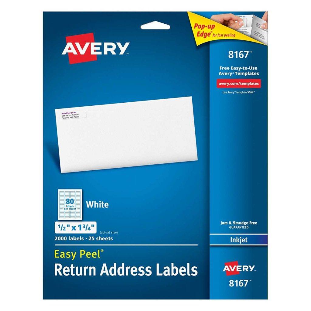 Avery 6 Labels Per Sheet Template and Avery Easy Peel Return Address Labels for Inkjet