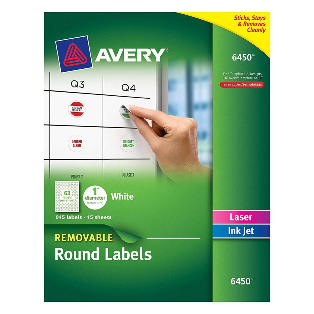 Avery 6 Labels Per Sheet Template and Avery Removable Round Labels 1 Inch Diameter White