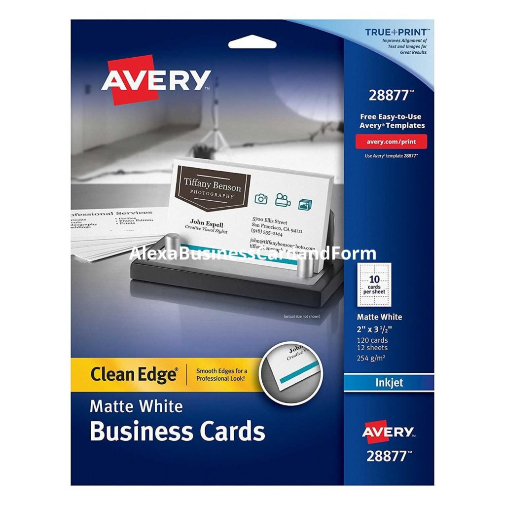 Avery Templates Business Cards 10 Per Sheet and Avery Business Card Template Alexabusinesscardandform