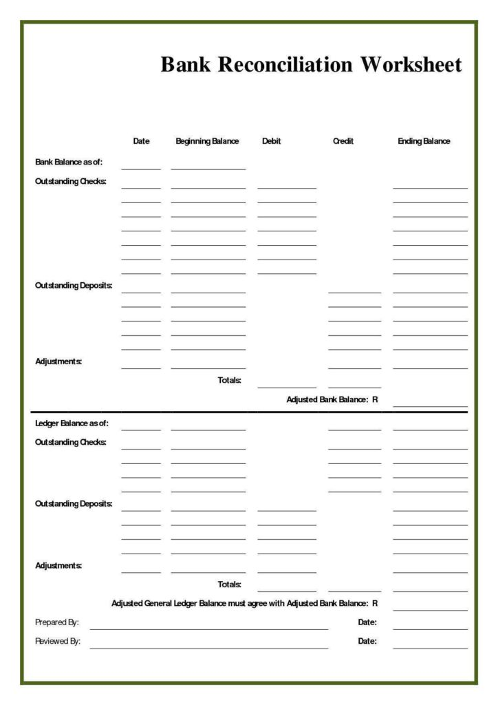 Balance Sheet Account Reconciliation Template Excel and Balance Sheet Account Reconciliation Template Excel Naerbet