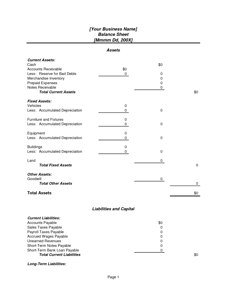 Balance Sheet Account Reconciliation Template Excel and Balance Sheet Template Example Masir